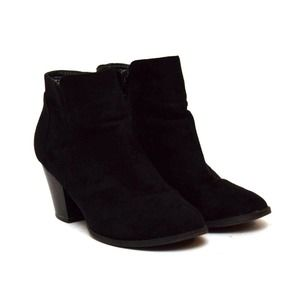 Charlotte Russe Ankle Boots Booties Vegan Suede